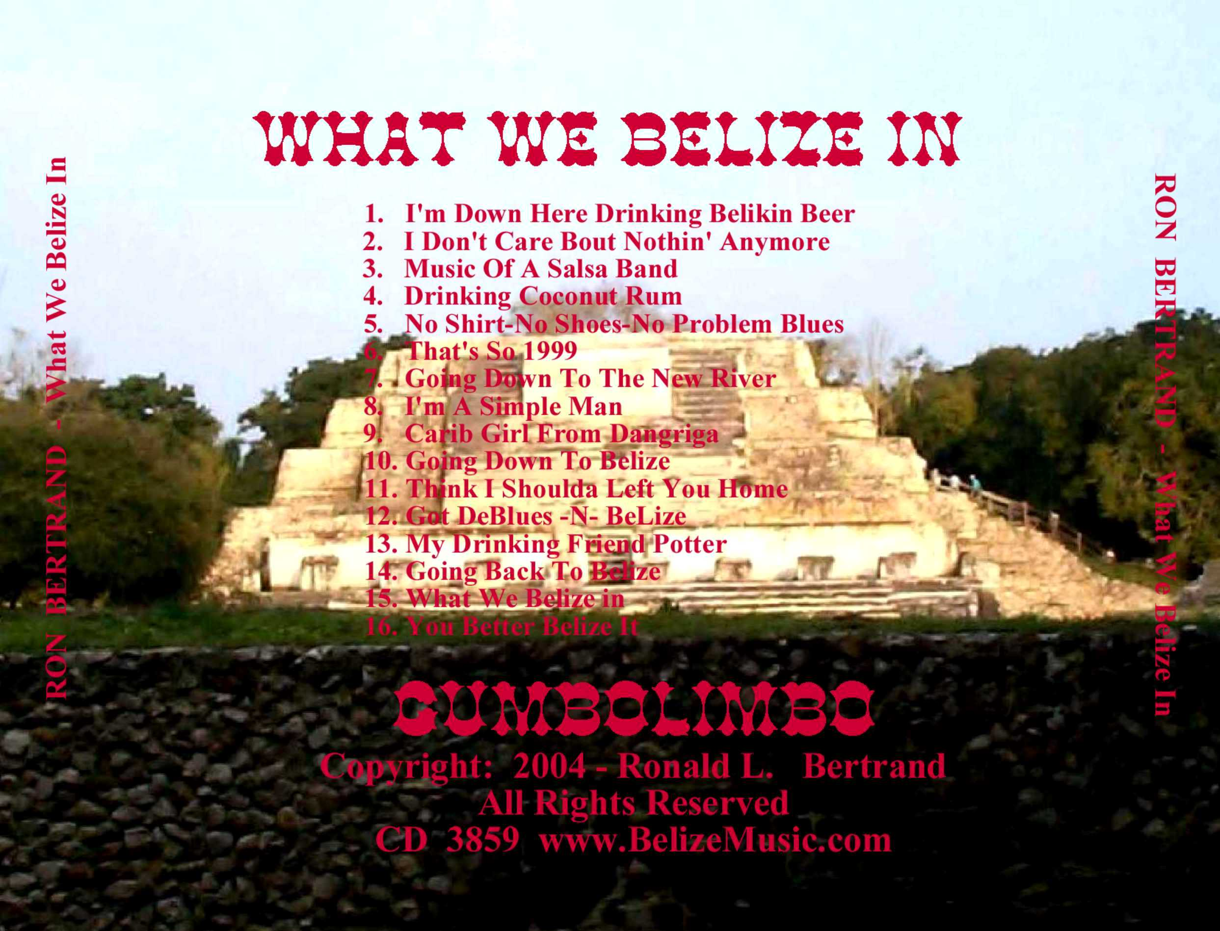 BELIZE ORIENTED VACATION CD